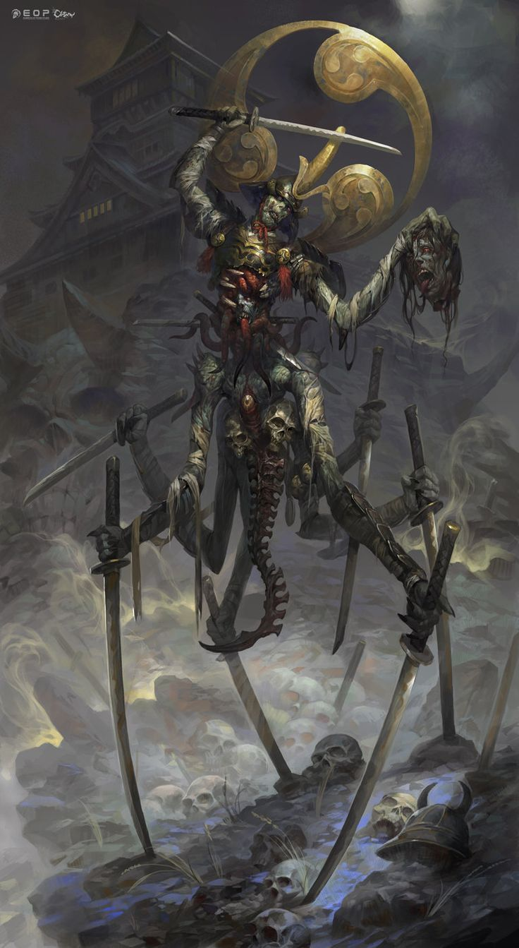 Ghost Samurai(鬼武士), Wei Feng on ArtStation at https://www.artstation.com/artwork/ghost-samurai-1f73890d-346d-419b-acc2-a0e75101dd78