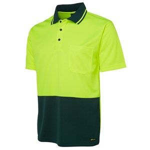 JB's Hi Vis Traditional Polo Shirt Yellow Bottle