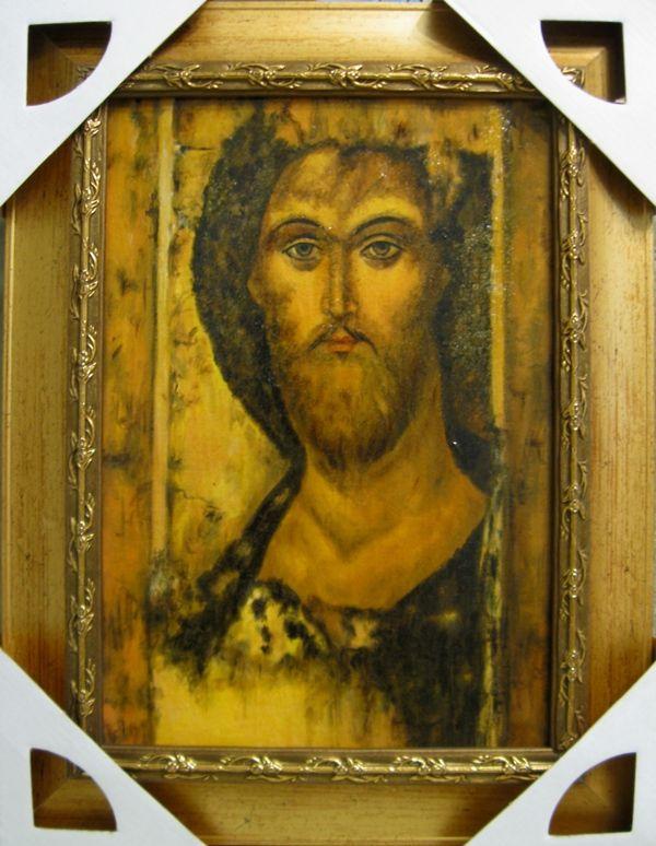 Иисус Христос (холст,масло,лак-патина,кракелюр)-художник Ядвига Сенько