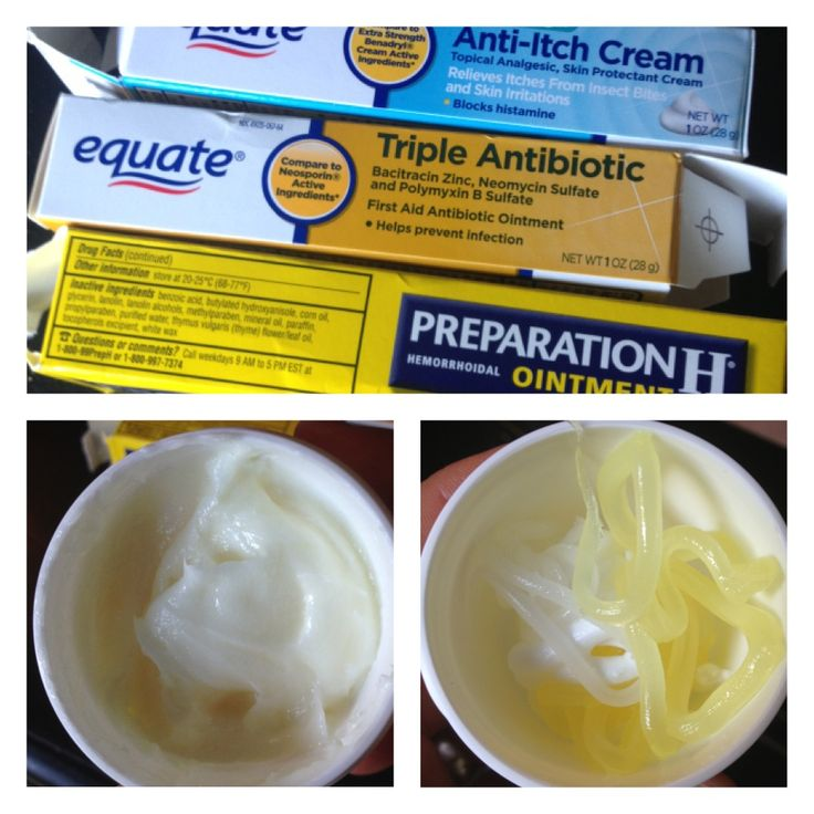 Miracle cream recipe: mix one tube each of anti-itch cream, anti-biotic ointment and hemorrhoid cream. Store in a sealed container. Use for: cuts, scrapes, bug bites, poison ivy, pimples. Apply several times per day as needed.