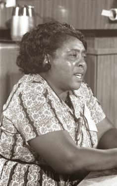 Fannie Lou Hamer helped register Blacks to vote in Mississippi and worked for the Student Nonviolent Coordinating Committee, which focused on racial segregation and injustice in the South.