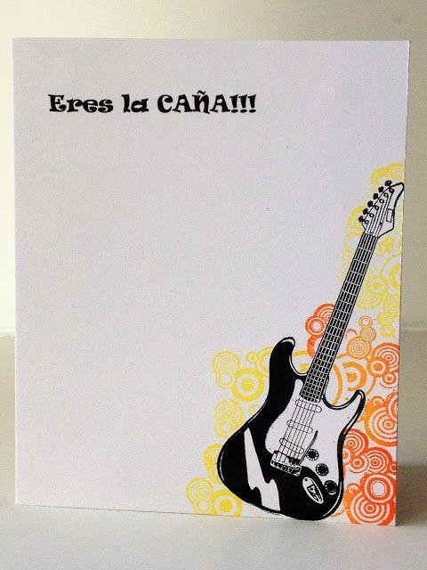 EL TALLER DE LOS RECUERDOS: Eres la CAÑA- U Rock  masculin card, one layer, music.