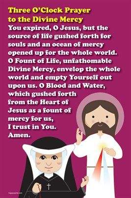 Happy Saints Prayer Posters: Happy Saints Divine Mercy 3 O'Clock Prayer Poster, $5.00 from MagCloud