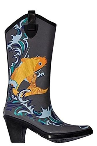 Stylish Womens Rain Boots Women's Water Shoess High Leg With Cute Pattern Tyc127 >>> Click image to review more details.