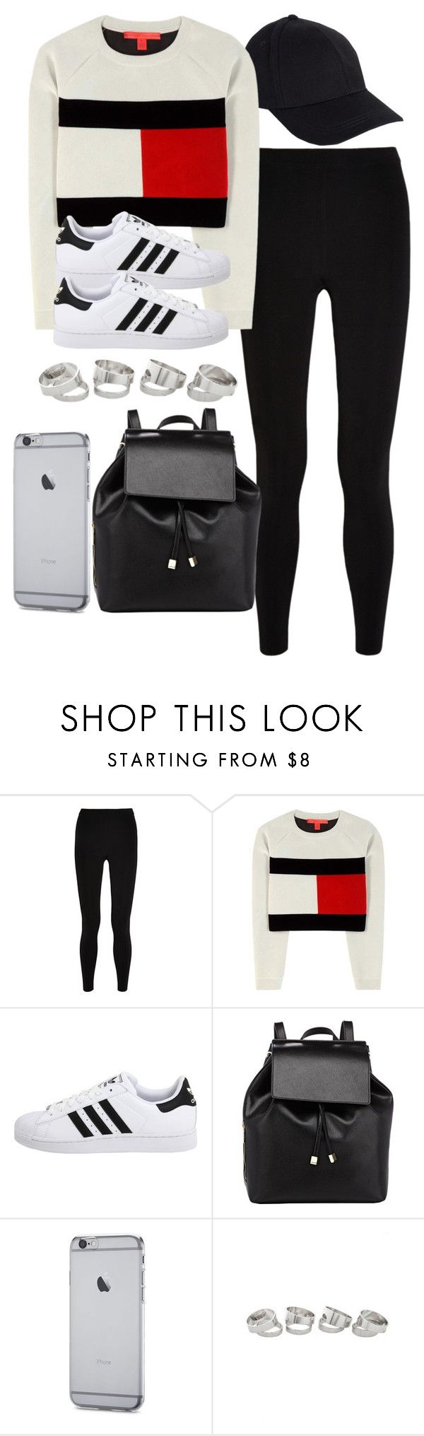 """""""Style #11454"""" by vany-alvarado ❤ liked on Polyvore featuring T By Alexander Wang, Tommy Hilfiger, adidas Originals and Barneys New York"""