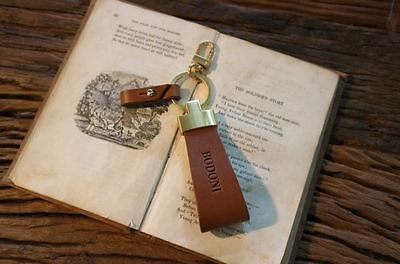 Handmade Key Ring Italian High Quality Buttero Leather (Cowhide)