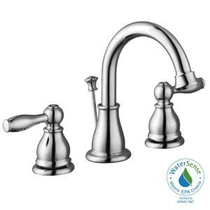 Glacier Bay Mandouri 8 in. Widespread 2-Handle High-Arc Bathroom Faucet in Chrome HD67389W-6201 at The Home Depot - Mobile