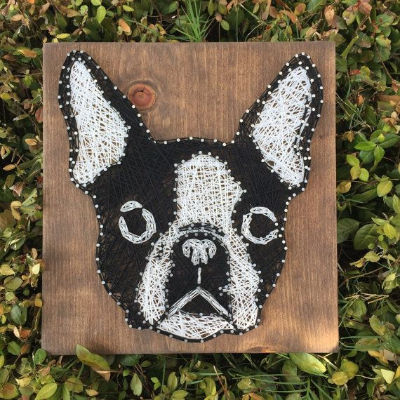 MADE TO ORDER Boston Terrier String Art por StringsbySamantha