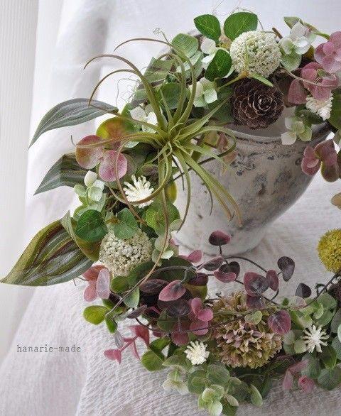 エアプランツ・チスパ&ハートカズラ:wreath
