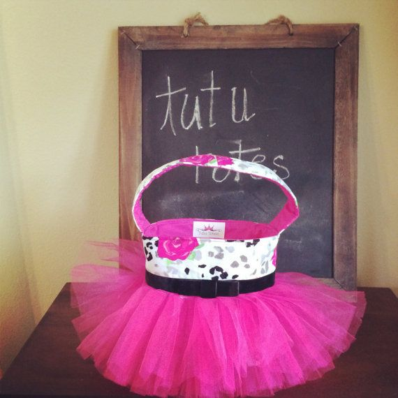Hot pink floral Tutu Tote by TutuTotes on Etsy, $28.00
