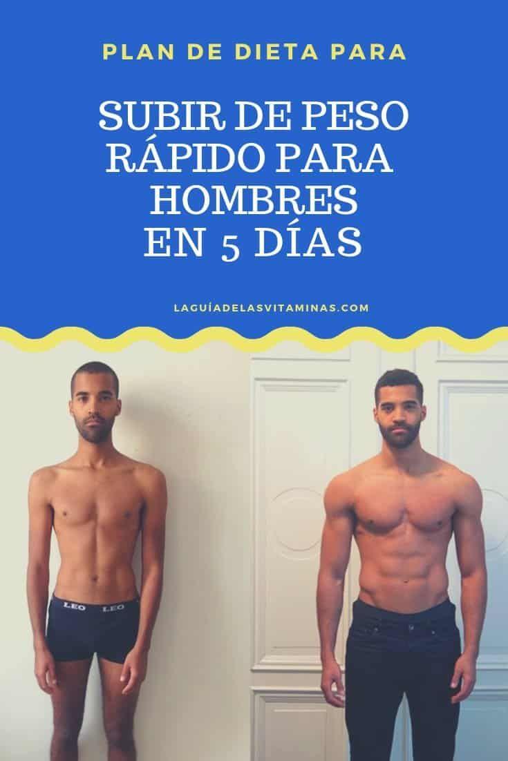 como bajar de peso en 5 dias hombres