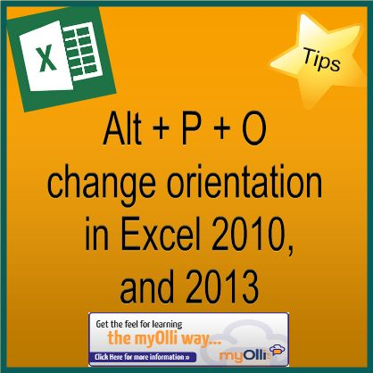 8 best ntc computer instructors images on pinterest microsoft microsoft office excel tip alt p o change orientation in excel 2010 2013 fandeluxe Images