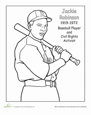 Color in Jackie Robinson, a baseball player that paved the way for many great talents in baseball.