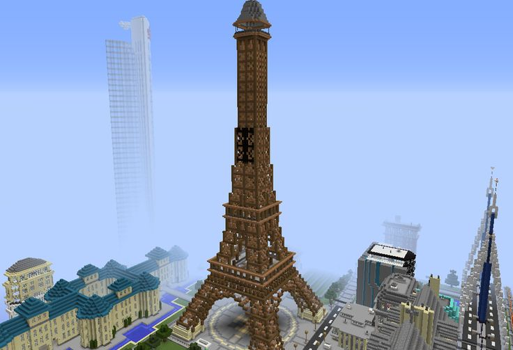 Eiffel Tower, Paris - GrabCraft - Your number one source for MineCraft buildings, blueprints, tips, ideas, floorplans!
