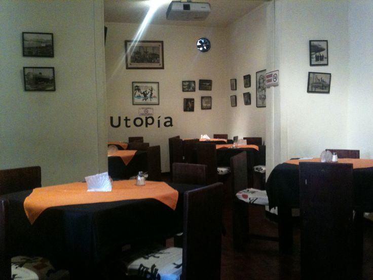 un restaurante con una personalidad unica. bogota colombia- teusaquillo. Restaurante Utopia.