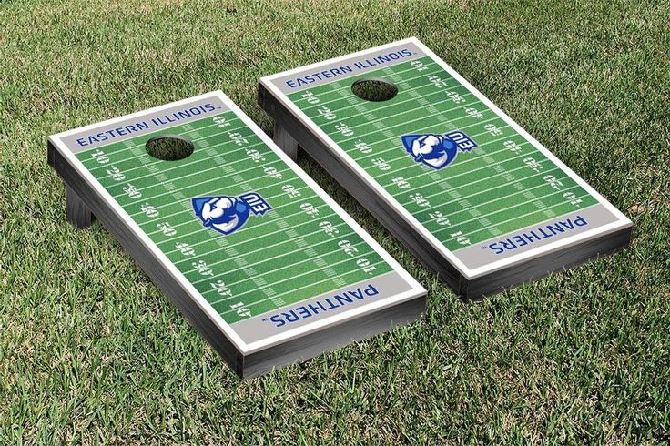 Eastern Illinois Panthers Football Field Cornhole Board Set