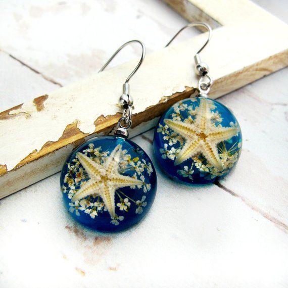 Jelly Star Fish Resin Earrings