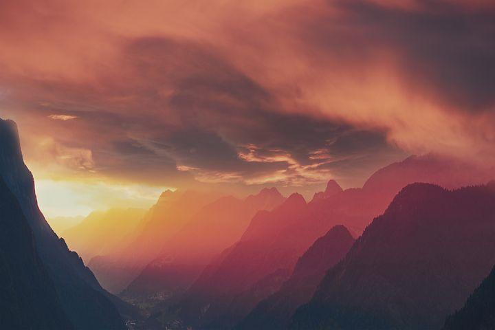 Free Image On Pixabay Landscape Mountains Sunset Sky In 2020 Sunset Mountains Mountain Sunset