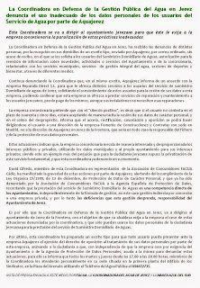 #NOTA DE #FACUA, COORDINADORA DEL #AGUA Y MAREA AZUL DEL SUR.- http://laoropendolasostenible.blogspot.com.es/2014/09/nota-de-facua-coordinadora-del-agua-y.html
