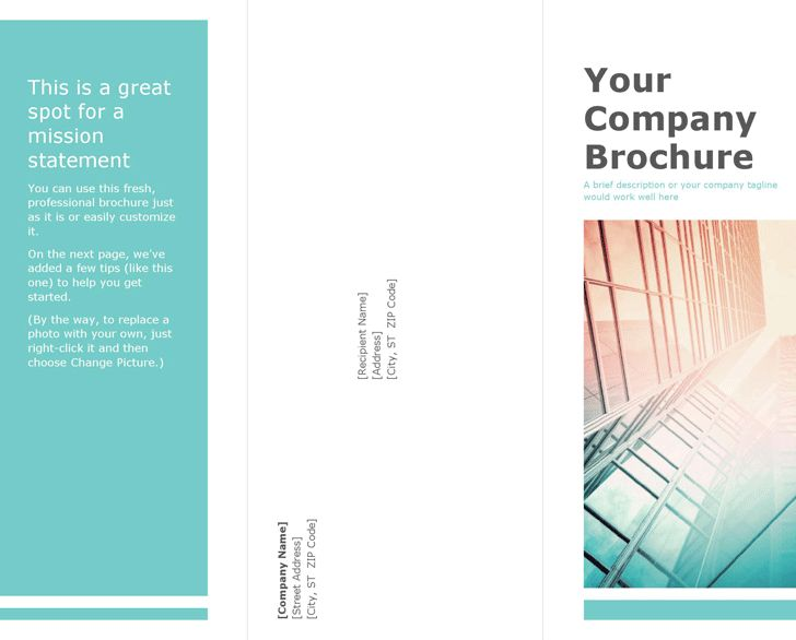 Blank Tri Fold Brochure Template Trifold Brochure Template Choose