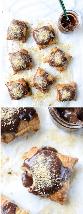 Nutella S'mores Puff Pastry Pop Tarts by @howsweeteats I howsweeteats.com