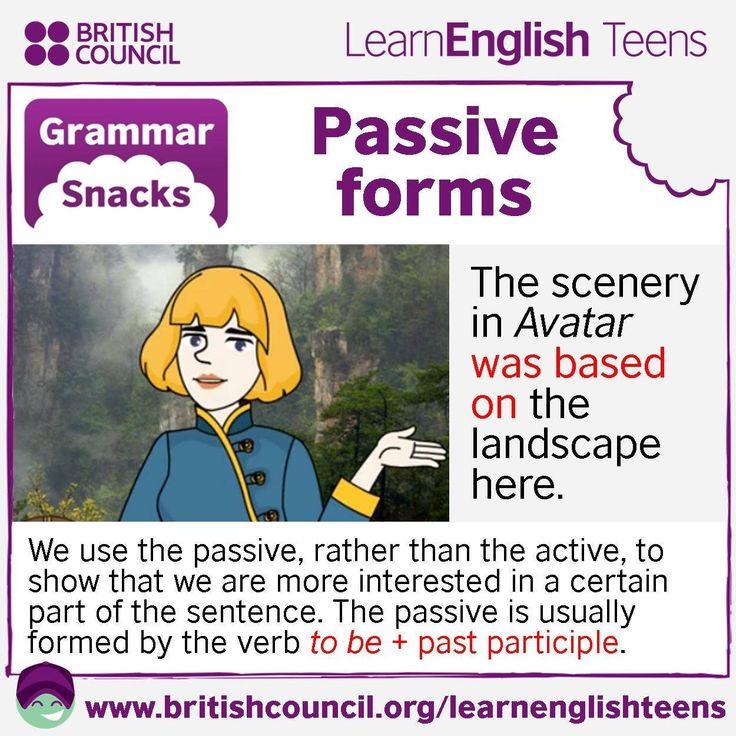 Grammar Snacks: #Passive forms #EnglishGrammar #LearnEnglish @English4Matura