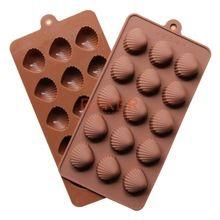 Moldes de silicone novo 15 reticulados moldes de biscoito de chocolate molde do cubo de gelo shell SICM-115-5(China (Mainland))