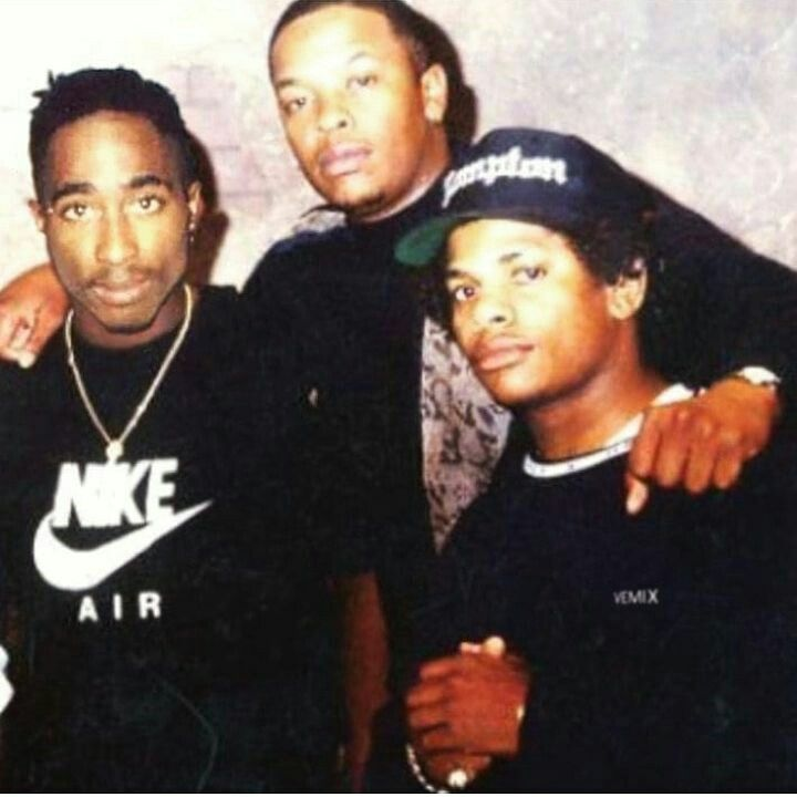 2pac, dre, eazy e hip-hop in one photo