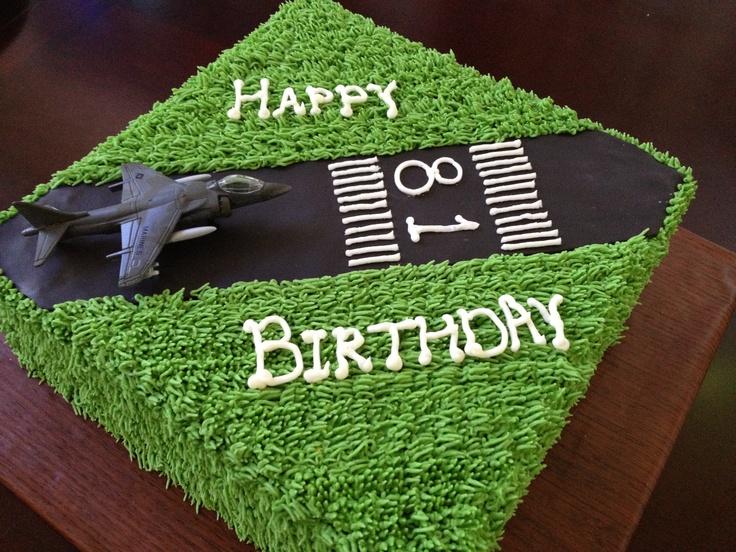Airplane Runway Cake