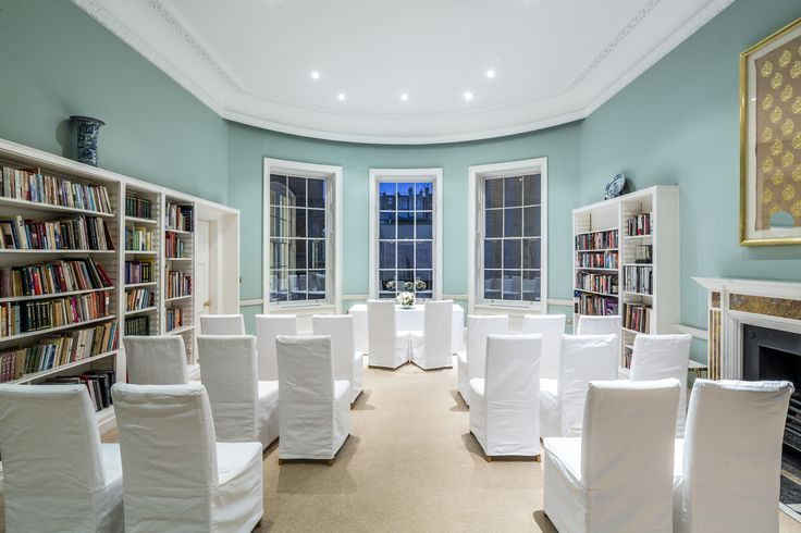 The Sir Peter Wakefield Library at Asia House - an intimate setting for a Westminster weddings. #Weddings #WestminsterWeddings #Married #WeddingIdeas #London #Marylebone #WinterWeddings