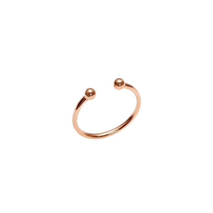 Jennifer Fischer Double Ball Ring 14K Rose Gold