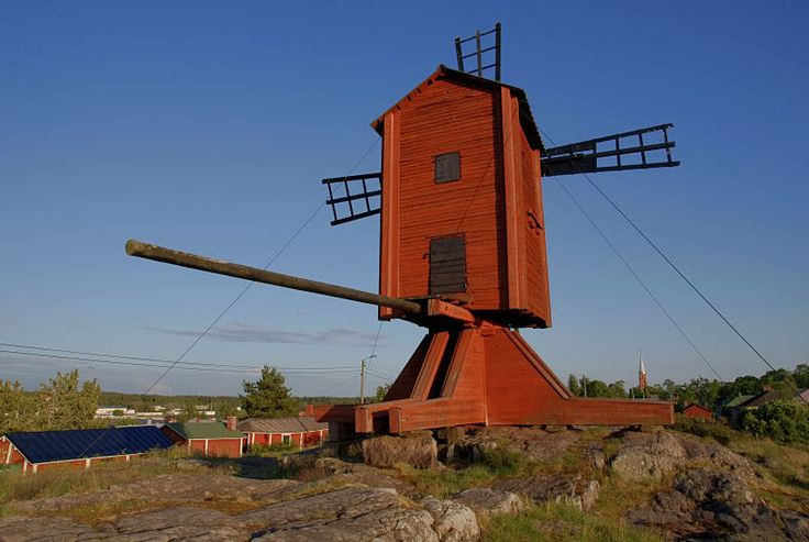 Windmill in Kristinestad. Ostrobothnia province of Western Finland.- Pohjanmaa - Österbotten