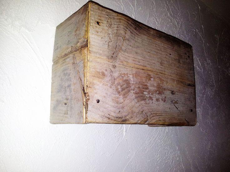 wandlamp steigerhout
