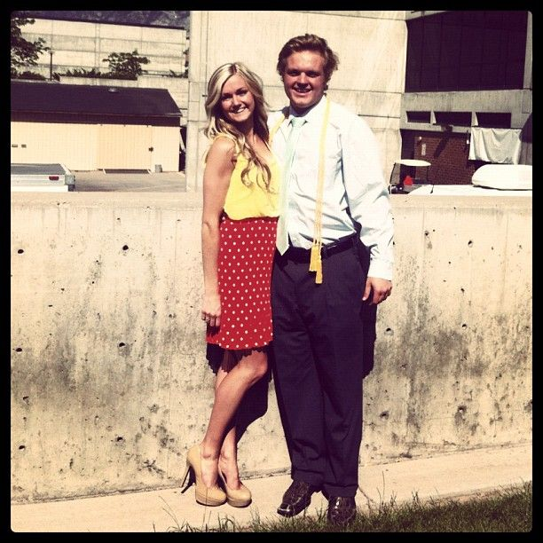 Lindsay Arnold and Samuel Cusick -  Lindsay Arnold and Samuel Cusick began dating in high school in Utah. Below is a graduation photo of the pair that Samuel shared on Instagram in 2012.  The coupletied the knot in Salt Lake City in June 2015 with fellow Dancing with the Stars dancers Brittany Cherry Jenna Johnson and Emma Slater serving as some of Lindsay's bridesmaids and Witney Carson serving as her maid of honor.  Did you enjoy this gallery? If so please share it on Facebook or post a…