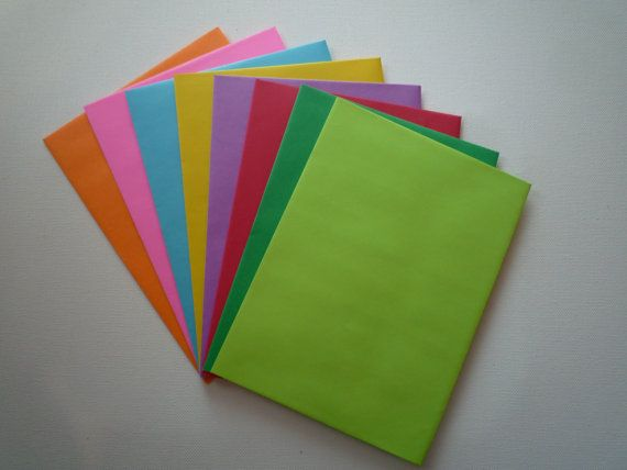 PE30  24 pc. Multi  Color Envelopes A7 60 lb. 5 by ClearbagsRUs, $3.69