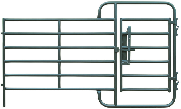 "These panels were designed for use with the Rough Stock Arena Panels.  They are ideal for creating a ""walk thru"" access gate into pens and alleys."