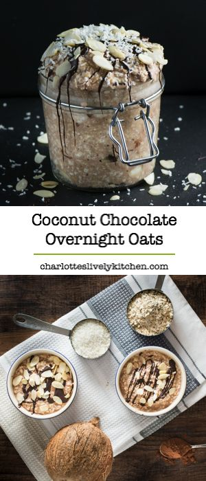 Chocolate, coconut, oats and almonds in a quick, healthy and easy to make breakfast. Gluten free and vegan.