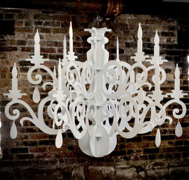 Picture of Large Silhouette Chandelier Decoration, the Grandelier PATTERN FOR MAKING THIS AND WIRING FOR LIGHTING