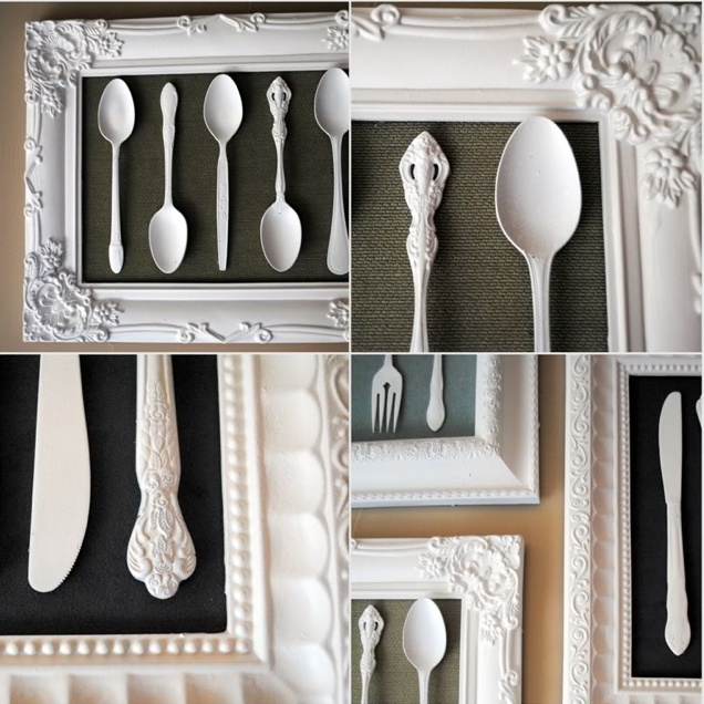 Silverware Artwork - this would be super fun in the breakfast room.