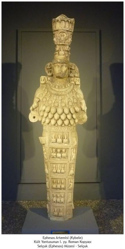 Efes Artemis'i Yunanlı bakire avcı tanrıça Artemis ile Anadolulu Ana Tanrıça kültünün eşsiz bir birleşimi, bereket sembolleriyle bezeli ünlü ve gizemli bir kült heykeldir.  Heykel üzerinde bulunan birçok meme, Yunan Artemis kültünün simgelediği bereket kavramının ötesinde doğurganlığı vurgulamaktadır.