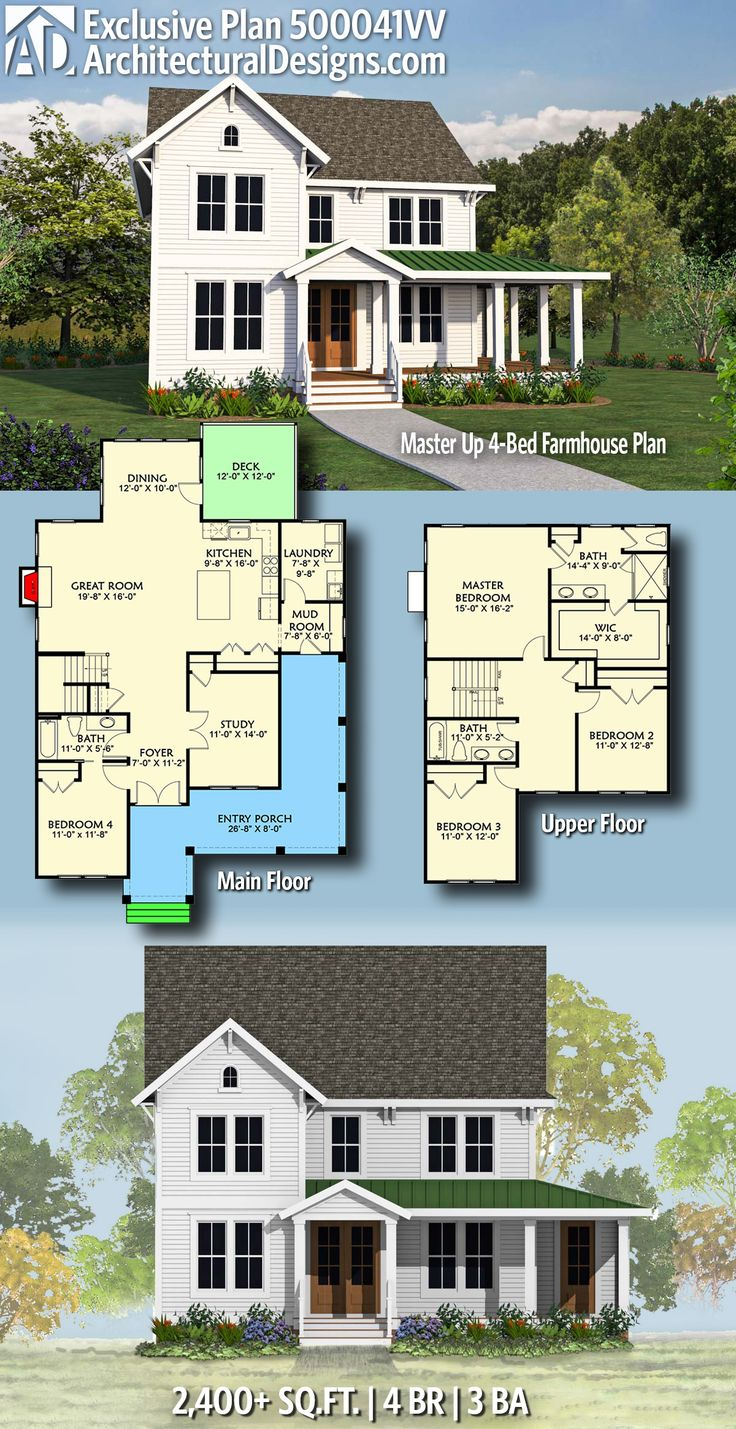 Architectural Designs Exclusive Modern Farmhouse House Plan