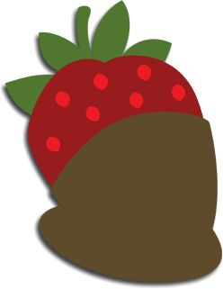 Chocolate Dipped Strawberr SVG File for Sure Cuts a Lot