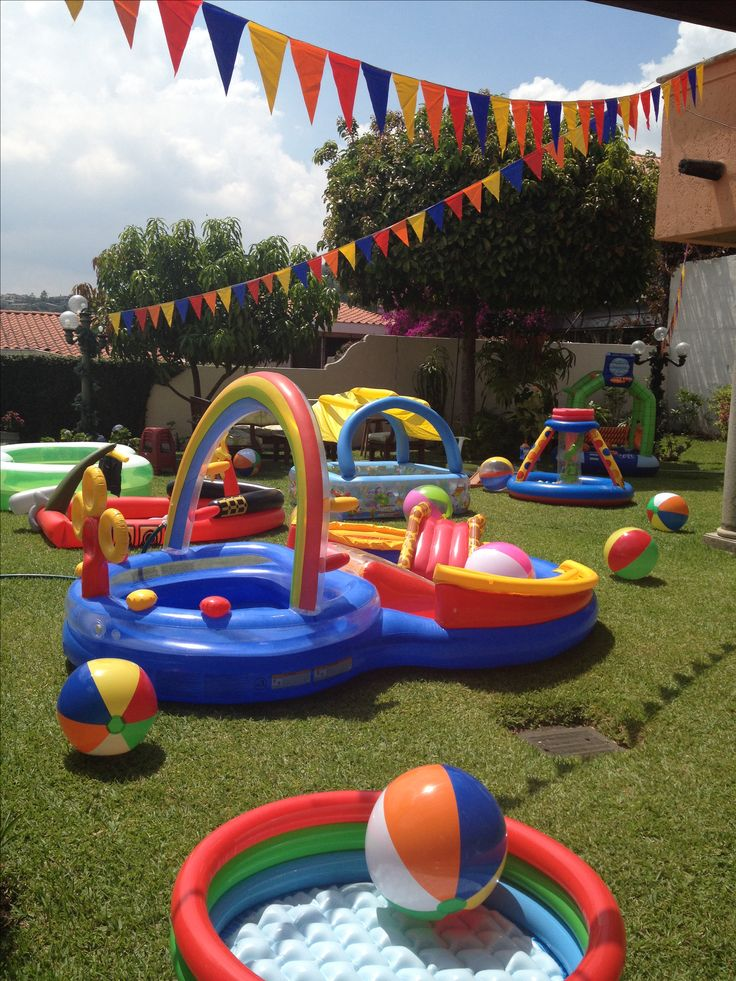 1st birthday pool party birthday ideas pinterest for Garden pool party