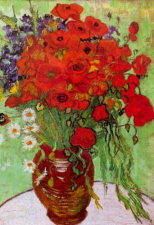 Vincent Van Gogh, Still Life Red Poppies and Daisies | Inexpensive Flower Prints & Posters