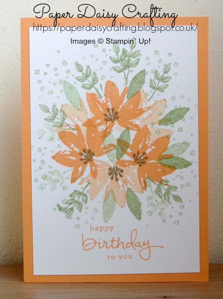 As you will all know by now, my favourite stamp set from those available free with Sale-a-bration is the Avant Garden stamp set. I've h...
