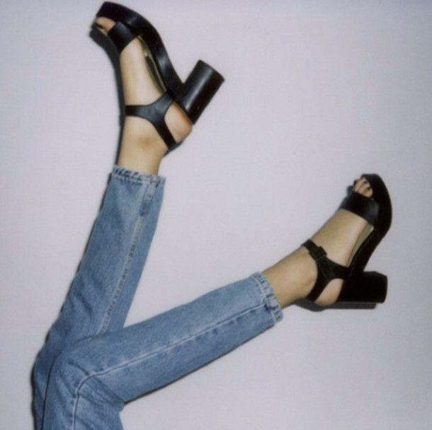 Wooden Heel Sandal. #AmericanApparel