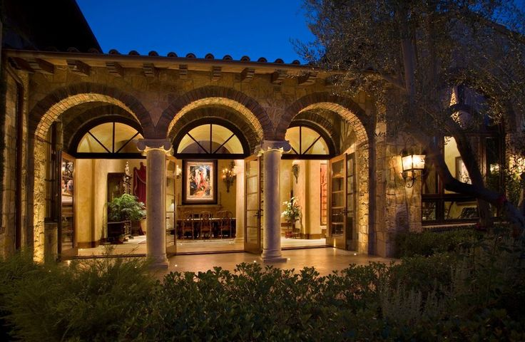Interior Design Arches And Columns Exterior Mediterranean