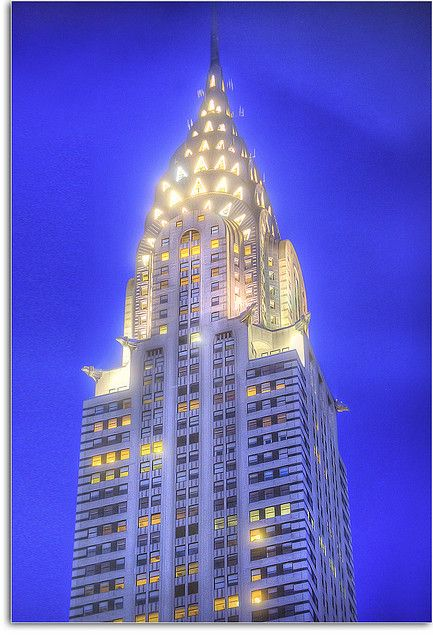 The Chrysler Building: an Art Deco style skyscraper in New York City #Manhattan