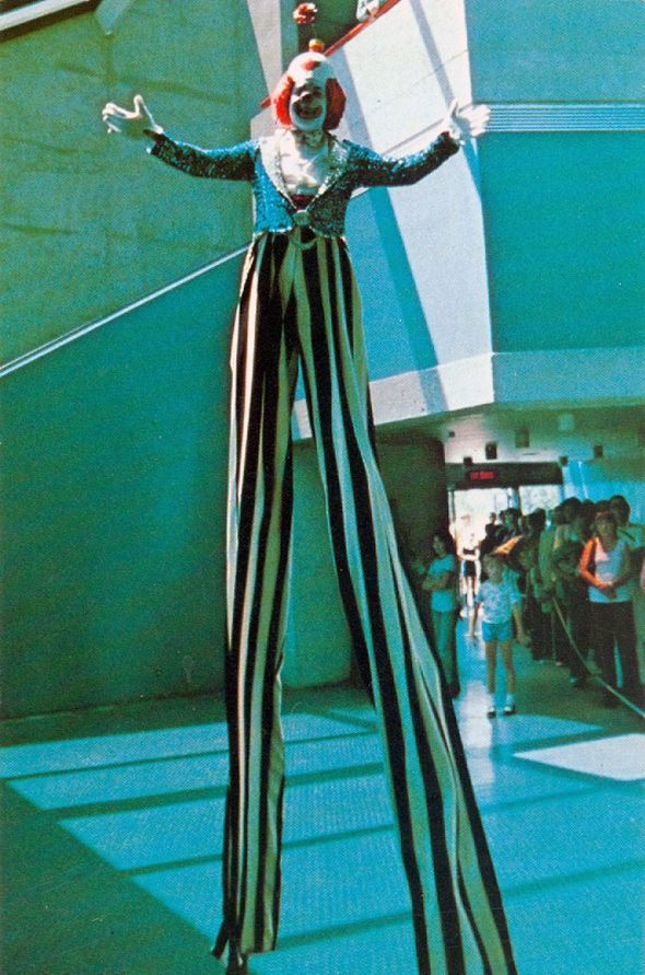 That time when the CN Tower had a clown on stilts... The CN Tower has memorably provided stout entertainment to Toronto and its visitors for almost four decades, but sadly history has not been kind to its original kid-friendly mascot, a humble, balloon animal wielding clown on stilts who went by the name of Diego.