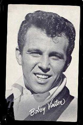 bobby vinton | 1960s Bobby Vinton Singer/ Actor Arcade Card